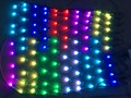 DC12V WS2811 controlled Individually LED full color net pixel;all green wire;10leds(1m)*10leds(1m)