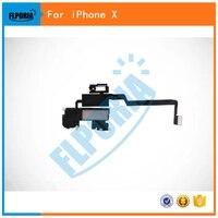 Flporia para iPhone x auricular oído pedazo de sonido de altavoz Flex cable reemplazo reparación