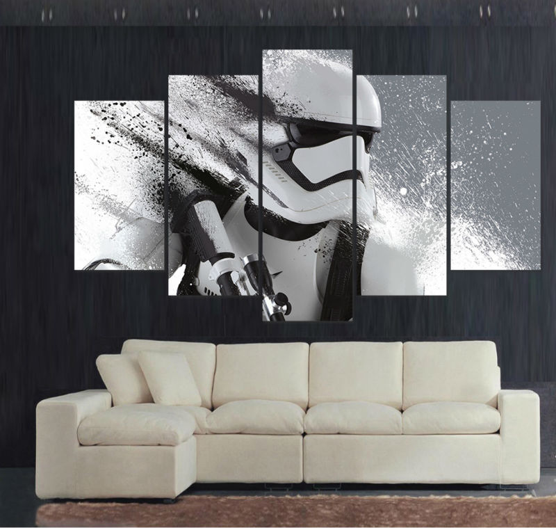 Print Stormtrooper Star Wars movie poster painting modern home decor         Star Wars Home Decor Wall Art