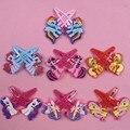 7 Pairs Doce Cabelo Poni Clipe Ornamentos boneca de brinquedo Dos Desenhos Animados Crianças Grampos de Cabelo Bonito