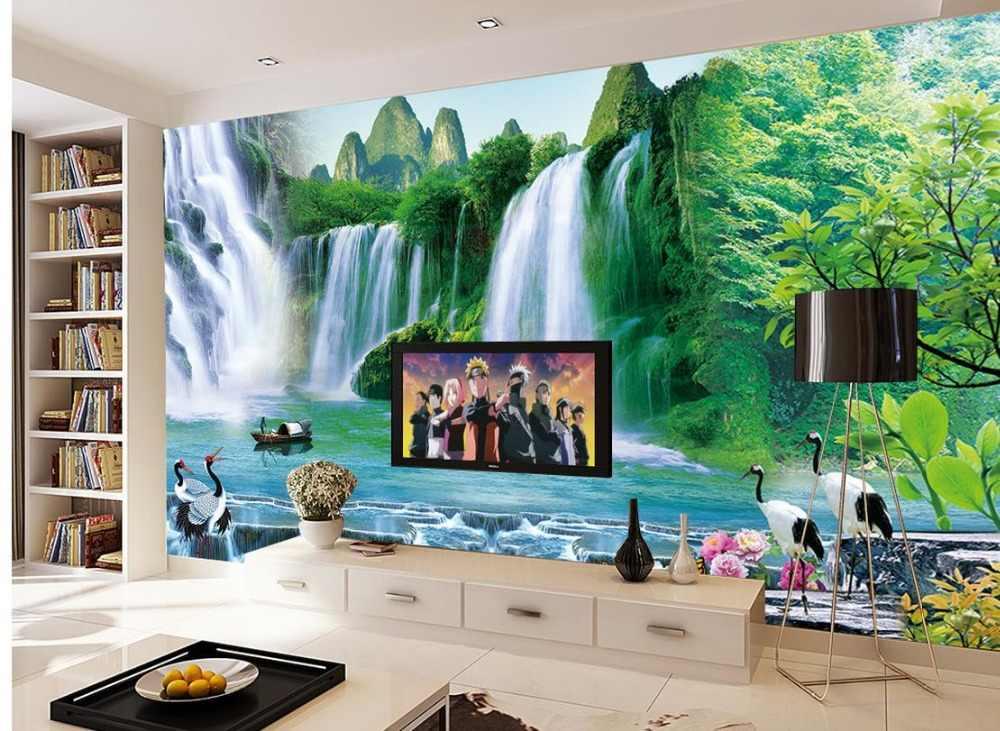 منزل الديكور صنع المال يتدفق شلال رافعة خلفيات لغرفة المعيشة غرفة مخصصة صور خلفيات