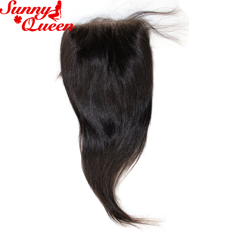 ФОТО Brazilian Virgin Hair 4x4 Straight Hair Closure 8A Top Quality Brazilian Straight Lace Closure With Baby Hair Blenched Knots