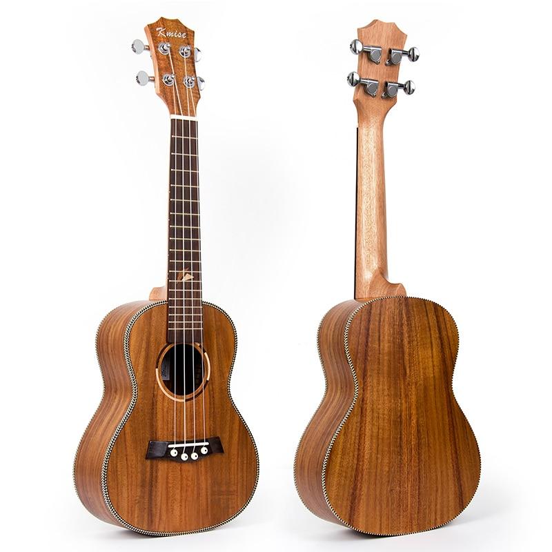 Kmise Concert Ukulele Acacia Ukelele Uke 4 String Hawaii Guitar 23 inch 18 Frets Rosewood Fingerboard