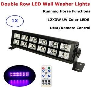 Светодиодный прожектор для дискотеки, 12 светодиодов, УФ-фиолетовый, черный, 25 Вт