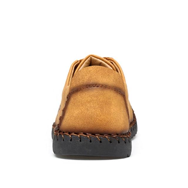 Новинка 2019 года; мужская повседневная обувь; лоферы; Мужская обувь; Качественная кожаная обувь; мужская обувь на плоской подошве; Лидер прод... 3