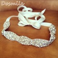 Elegant New Bling Dazzling Crystal Rhinestone Bridal Belt Woman prom Sash Waistband wedding Accessories