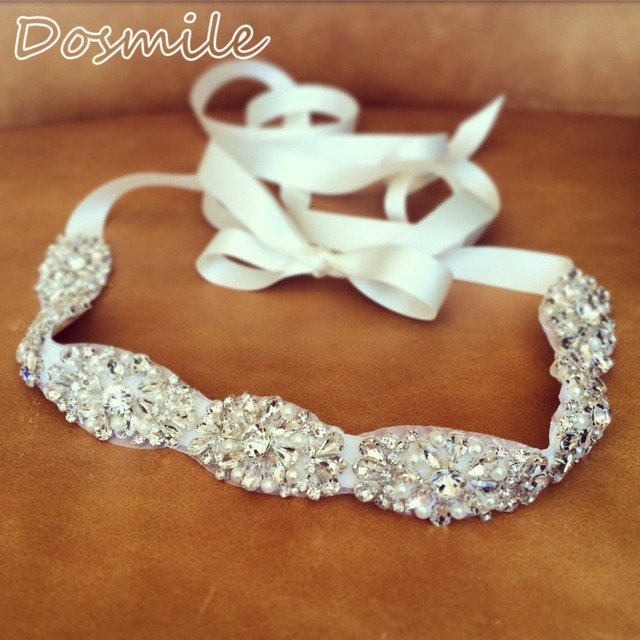 Elegant New Bling Dazzling Crystal Rhinestone Bridal Belt Woman prom Sash Waistband wedding Accessories