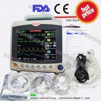 CE монитор пациента 3/5 ЭКГ, RESP, SpO2, NIBP, PR, 3 Multi параметры, CONTEC