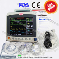 CE Patient Monitor 3/5 lead ECG,RESP,SpO2,NIBP,PR,3 Multi parameters,CONTEC