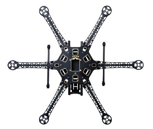 HMF S550 PCB Center board Carbon Fiber Landing Gear RC Hexacopter/ Six-axle Rack / Multicopter Frame ( F550 Upgraded Version) все цены
