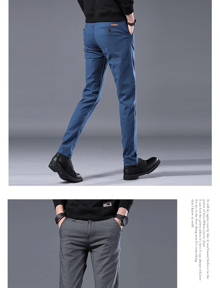 HTB1lkuRLwHqK1RjSZFgq6y7JXXaN Men's Business Casual Pants Trend Designer Korean Style Slim Male Trousers Classic Plaid High Quality Straight Stretch Pants Men