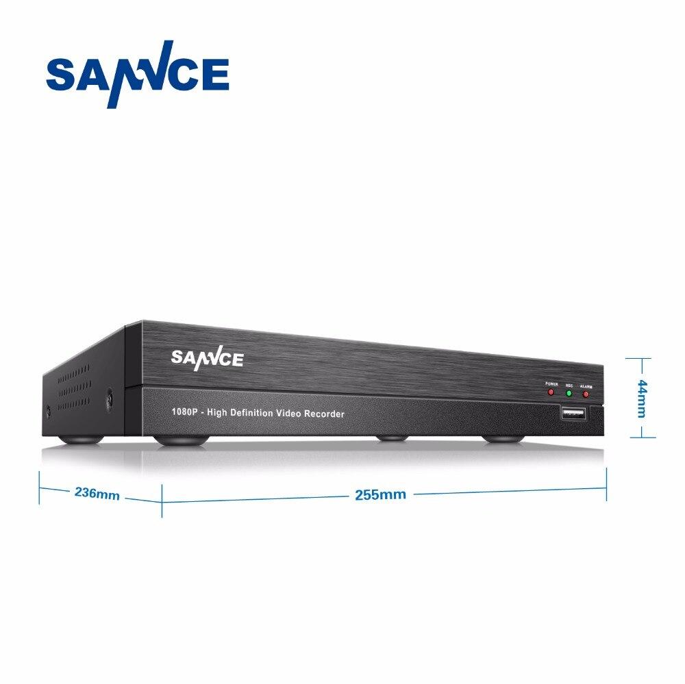 SANNCE NEW 4CH AHD 1080P HDMI H.264 CCTV DVR 2.0MP High Resolution 4 channels P2P Surveillance Digital Video Recorder 80 channels hdmi to dvb t modulator hdmi extender over coaxial