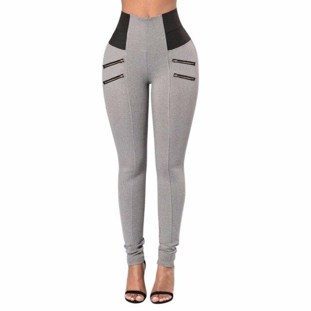ef6bf42f3d Lisli Pantalones Para Mujer Pantalones de Moda Femenina Pantalones de  Cremallera Pantalones de Algodón Elástico Niza