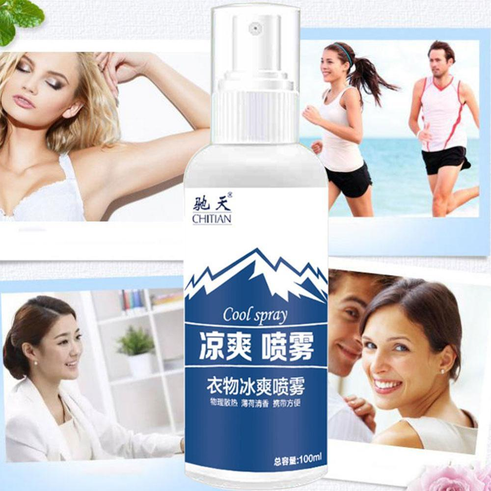 Outdoor Sports Cooling Spray Refreshing Anti-Perspirant Anti-Heatstroke Spray Stay Away From Heat Car Rapid Cooling Agent