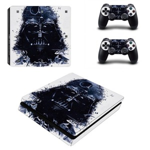 Image 5 - Black Batman Skin Sticker Cover Protector Vinyl Sticker For PS4 Slim Console Kinect and 2 Controller Skin