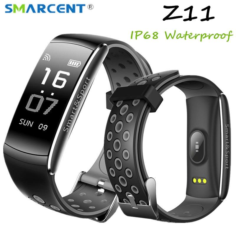 Z11 IP68 Waterproof Smartband Watch Blood Pressure Heart Rate Monitor Smart Bracelet Fitness Tracker Bluetooth Wristband pk S2