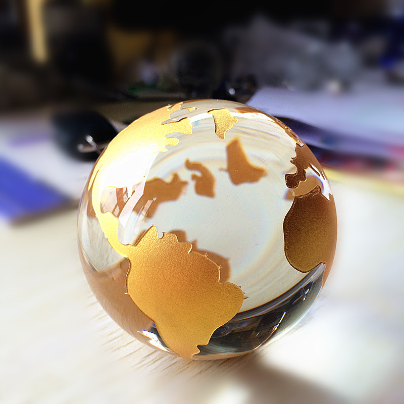 80mm crystal glass marbles earth globe silver gold world map feng 80mm crystal glass marbles earth globe silvergold world map feng shui quartz sphere terrarium gumiabroncs Image collections