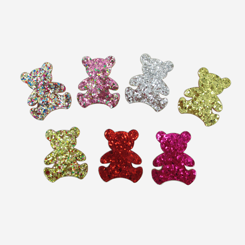 David accessories 35 30mm Glitter Animal Headwear Girls Hair Accessories 10Pcs DIY Handmade Material For Kids