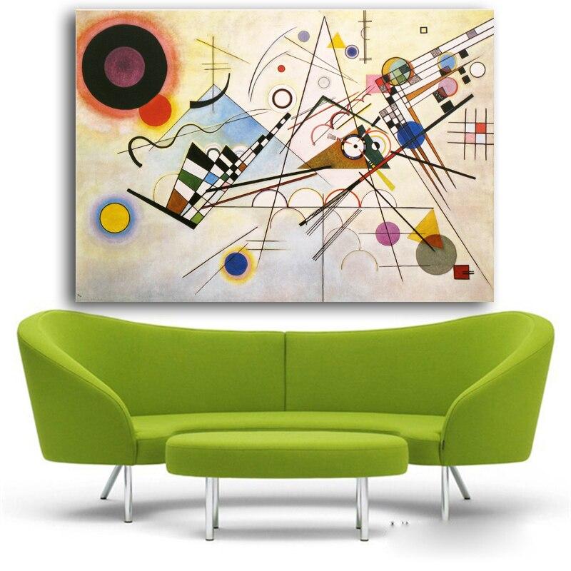 WASSILY KANDINSKY Abstrakt Konst Väggmålning Tryck och Posters - Heminredning - Foto 4