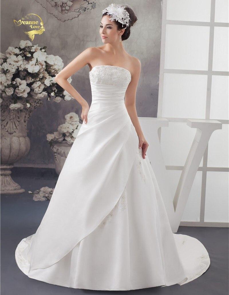 Robe de mariage en satin avec traine