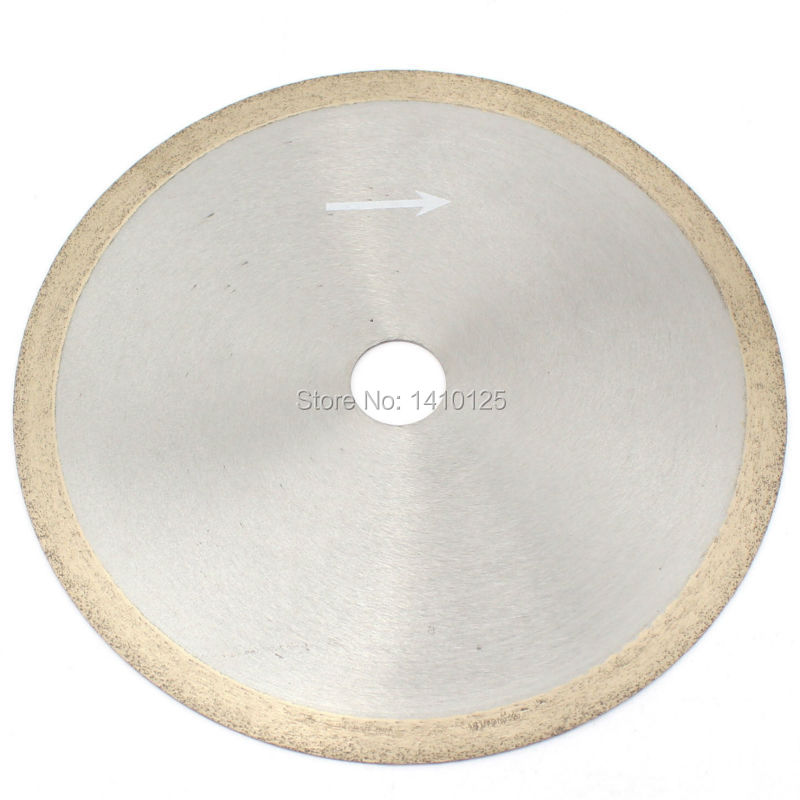 8 inch 200mm x 25.4mm x 1.1mm Diamond Continuous Rim Saw Glass Wet Cutting Blade Arbor 1 8 200mm diamond dry cutting disk saw blade plate wheel with long short protective teeth for dry cutting granite sandstone