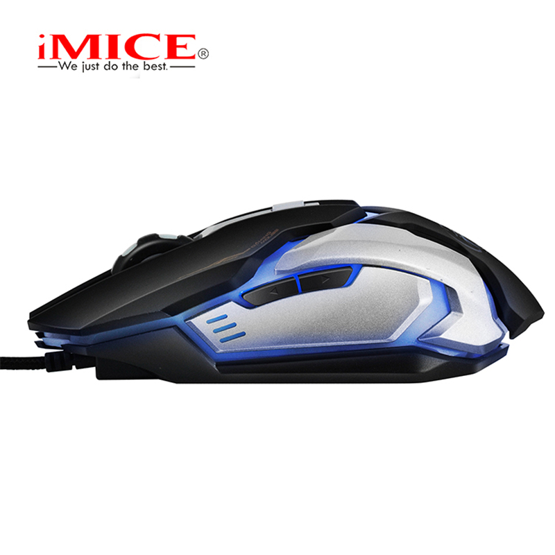 iMICE Gaming Mouse 6 Buttons 2400 DPI LED Optical USB Wired Professional Game Mouse Gamer Computer Mice For PC Laptop Desktops