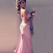 Sexy Mermaid Bridesmaid Dresses Long 2017 vestido madrinha Spaghetti Straps Satin Formal Gowns Maid of Honor Dress for Weddings