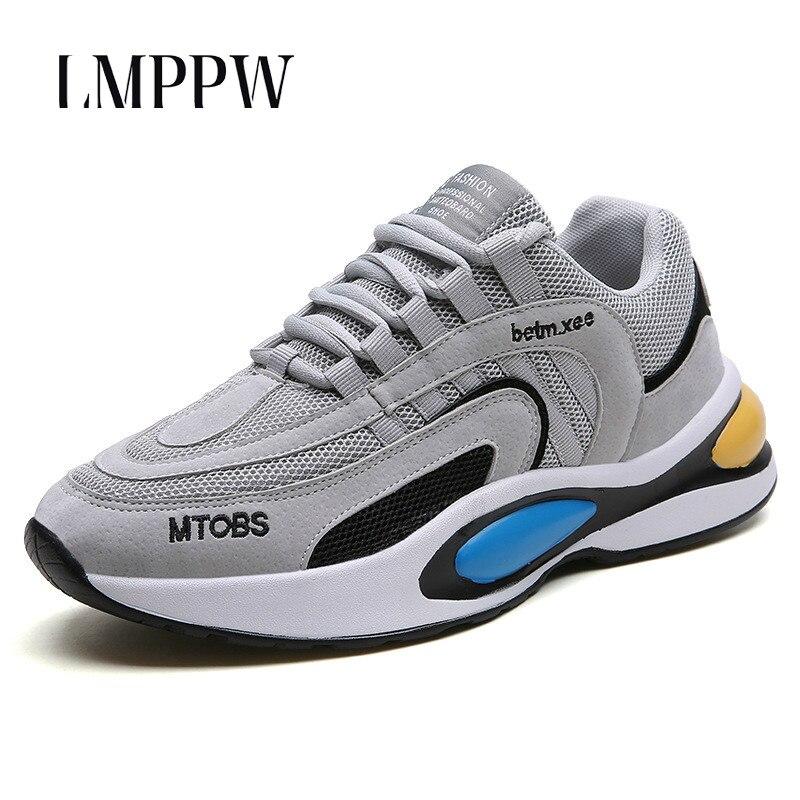 Hommes Chunky baskets 2019 nouveau été maille respirant mode chaussures pour hommes décontracté sport course baskets adulte mâle Tenis chaussures