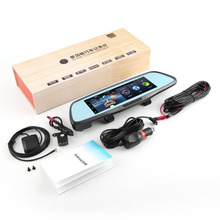 Night Vision Dual Lens Smart Rearview Mirror Multi-function Car Camcorder Car Bluetooth Navigators HD With Backview Camera Hot