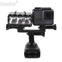 Handheld Selfie Monopod Diving Underwater Mount + LED Fill Light For GoPro 5 4 3+ 3 2 For Xiaomi yi SJ4000 SJ5000 SJ6000 Camera
