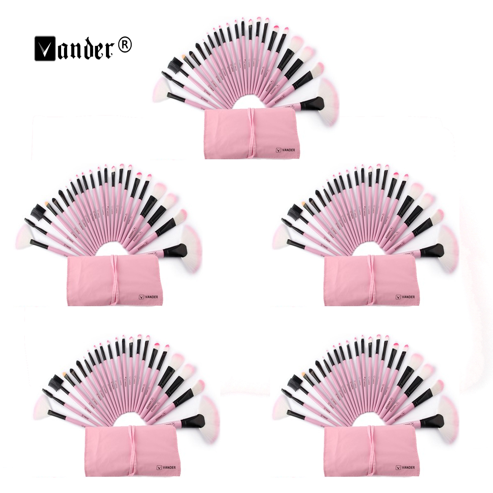 5 Sets 22 Pcs Makeup Brushes Tools Women Professional Tools Kit for Makeup Beginners Daily Make-up Kit + Bag Pinceaux Maquillage makeup sponge 5 pcs