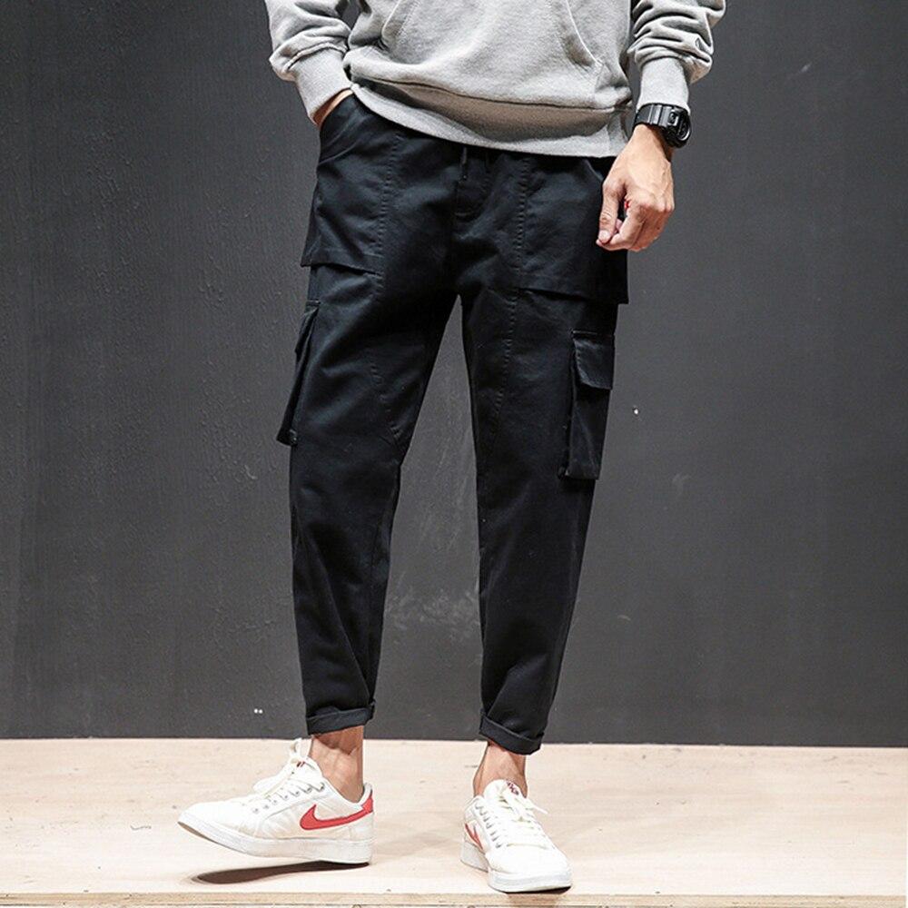 36a4ccd56 2019 primavera otoño streetwear pantalones casuales de algodón para hombre  Pantalones japoneses ...