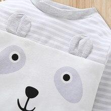 Newborn's Long Sleeve Cartoon Printed Pajamas