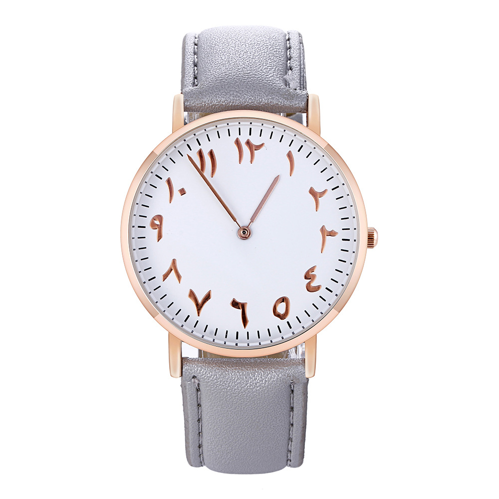 New Fashion High Quality Arabic Numerals Women Watches Ladies Casual Leather Dress Quartz Watch Clock Montre Femme Relojes Mujer