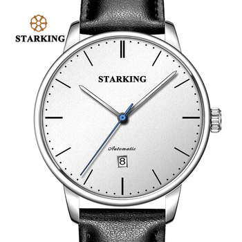 TM0915 STARKING Luxury Brand Cheap Mechanical Watch Auto Date Automatic Self-wind Male Clock 28800 High Beat Watch Relogio Sport ks luxury brand black gold relogio auto date display leather strap clock automatic self wind mechanical mens casual watch ks185