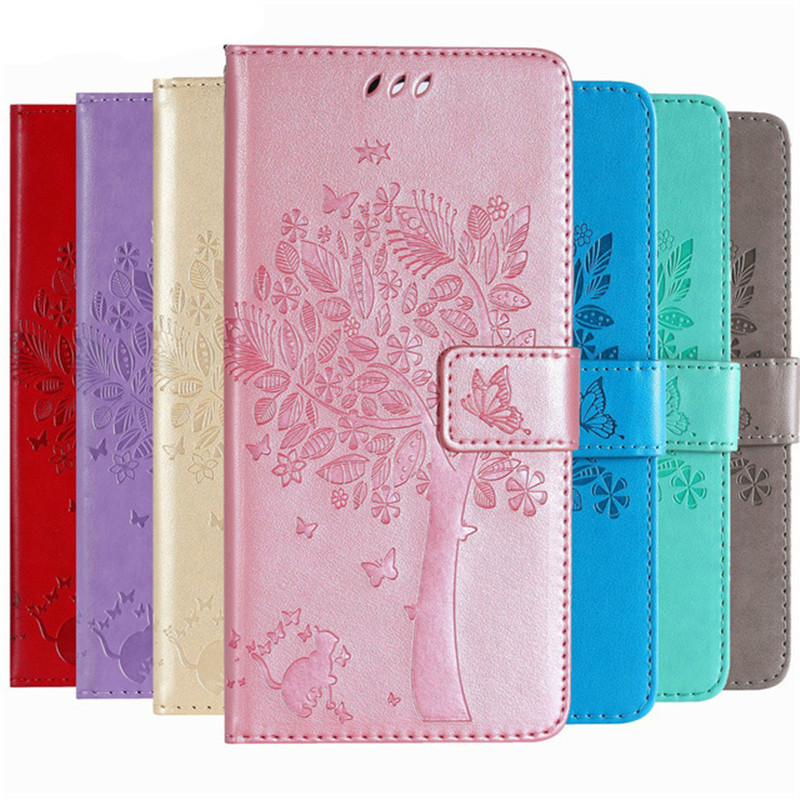 Luxury Leather Wallet Phone <font><b>Case</b></font> For <font><b>Huawei</b></font> Y5 Y6 Pro <font><b>Y7</b></font> Prime <font><b>2019</b></font> Y9 2018 Flip Cover Bags For Honor 7A 7C 8A 8C 8X <font><b>Case</b></font> image