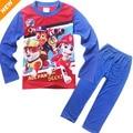 3-8 T Crianças Pajama Define Manga Comprida Pijamas Para Crianças Meninos Dos Desenhos Animados Patrulha Roupas Homewear Bebê Pijamas Menino roupas