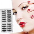 10 Pares Negro Largo Grueso de Las Pestañas Falsas Pestañas de Visón Pestañas de Extensión para Cuidado de Los Ojos de Maquillaje Natural Venta Caliente