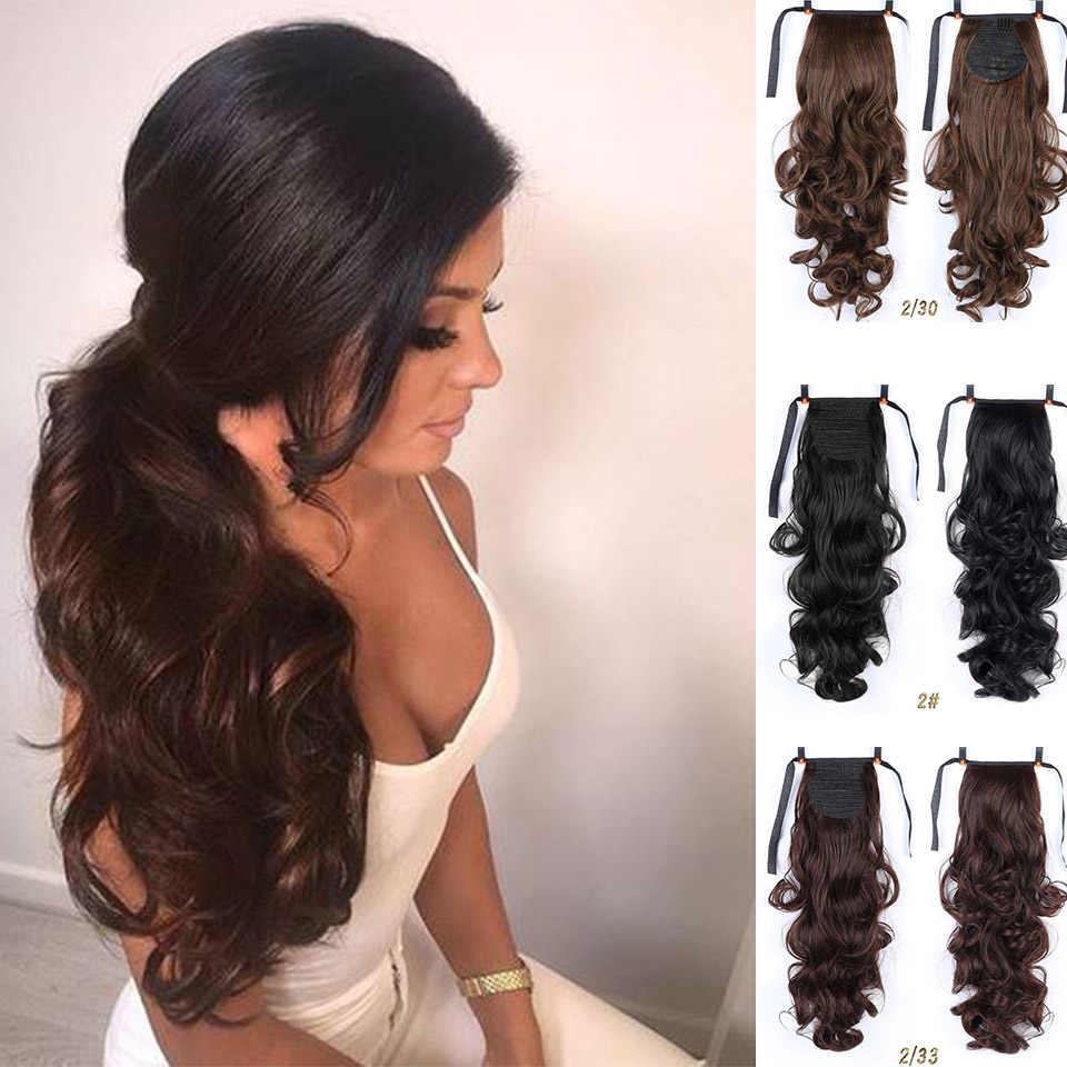 MUMUPI Синтетическая лента Накладка для волос клип парик натуральный поворотный зажим в человеческих волос Расширение конский хвост парик головной убор
