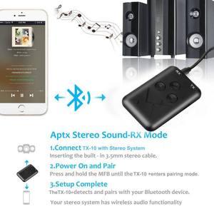 Image 4 - Adaptador Bluetooth 2 en 1, estéreo, 3,5mm, receptor y transmisor de música inalámbrico, adaptador para auriculares de coche, teléfono móvil ESTÉREO