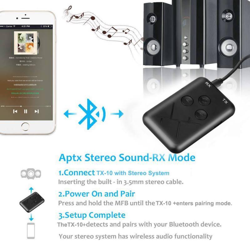 Image 4 - Bluetooth адаптер 2 в 1 стерео 3,5 мм аудио музыка беспроводной передатчик приемник адаптер для автомобильные наушники стерео, для мобильного телефона-in Адаптеры, брелки USB, Bluetooth from Компьютер и офис