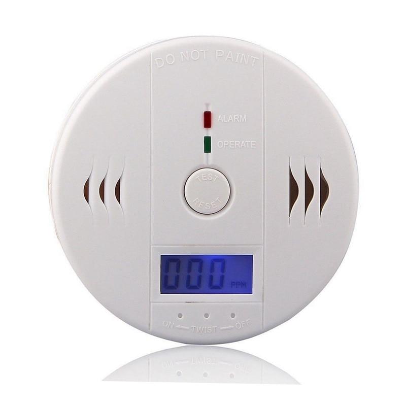 Home Alarm LCD Digital Screen 85Db Sounder Independent Carbon Monoxide Detector for Warning Test CO Gas Leak Detector