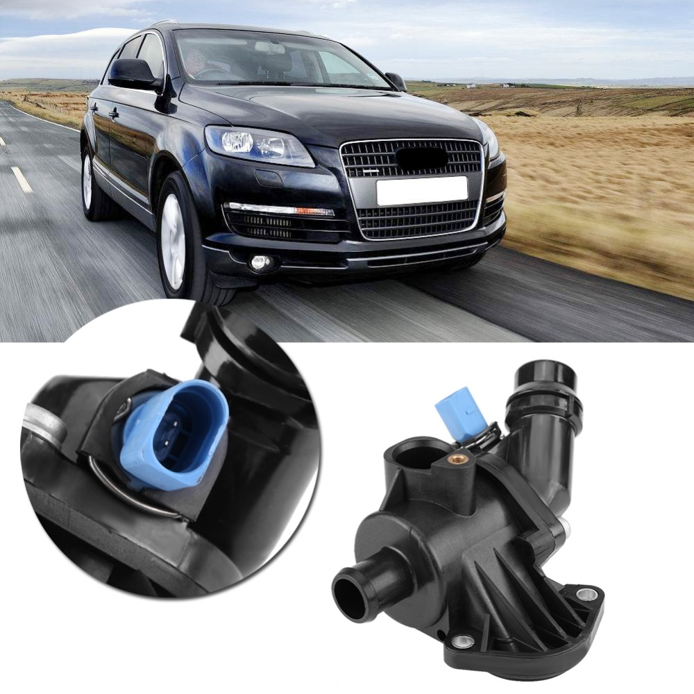 medium resolution of auto engine coolant thermostat housing assembly 06b121111k for audi a4 quattro 2002 2003 2004 2005 2006 auto accessories metal in thermostats parts from