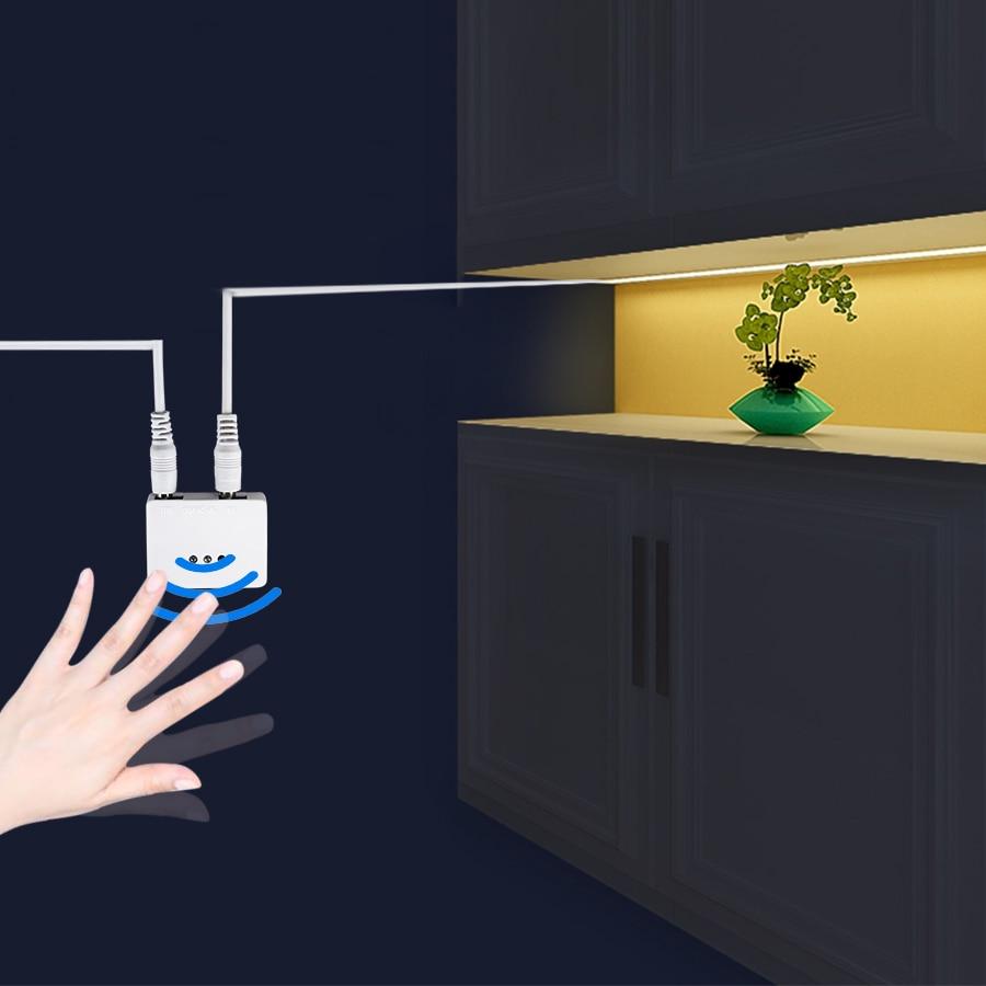 1m 2m 3m 4m 5m LED Under Cabinet Lights 12V 2835 60 LEDs/m LED Strip Light Hand Sweep Motion Sensor Kitchen Bedroom Night Lamp(China)