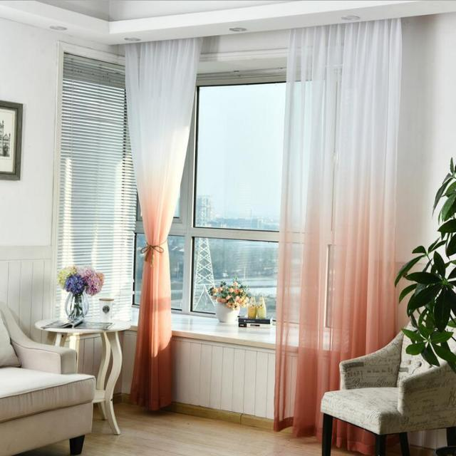 Fashion Green Tulle Curtains Window Drapes Blinds