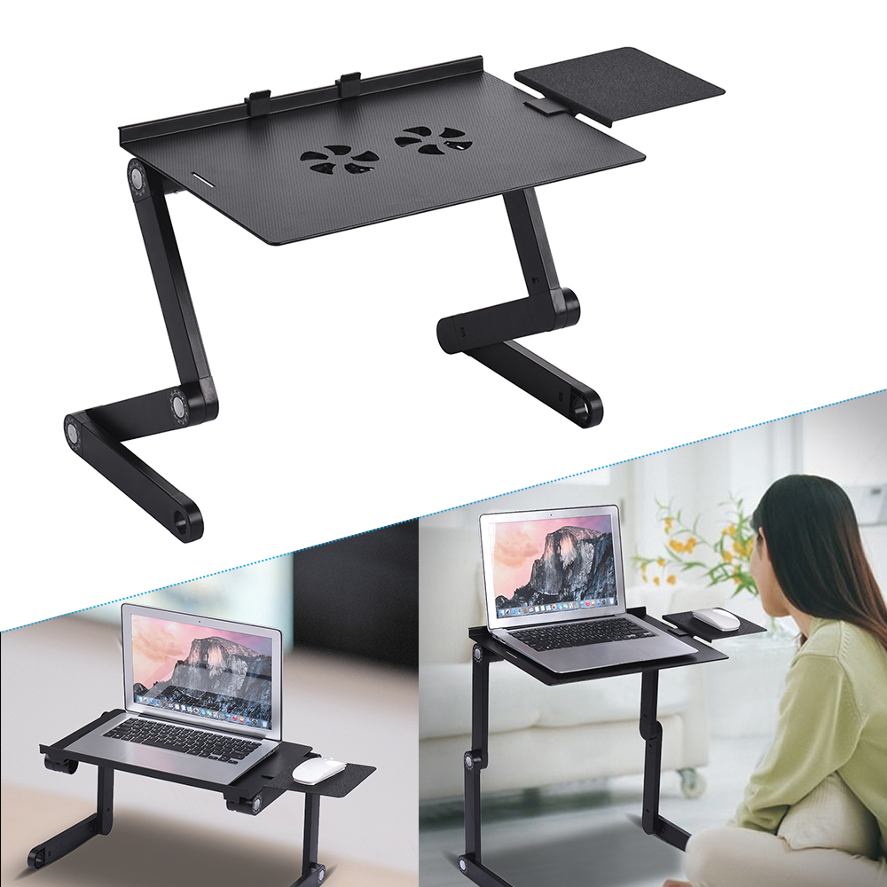 Hot Sales Foldable Laptop Table Stand Cooler Vented Computer Desk Bed Lap Tray 360 Degree Adjustable