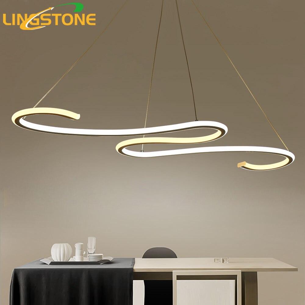 Современные светодио дный светодиодные подвесные светильники для столовой кухни пульт дистанционного управления подвесные лампы приспос...