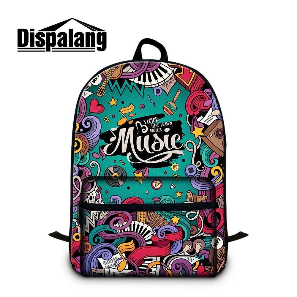 Dropshipping Cotton Fabric Backpack for Teen Girls Art School Bag Women Travel Bookbag for Laptop 14 inch Cool mochilas Rucksack