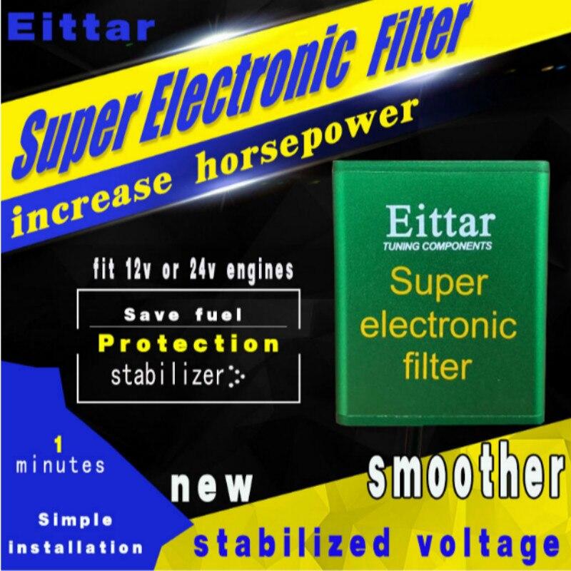 Pour toutes les voitures Auto Super électronique filtre Performance puces voiture ramasser économiseur de carburant stabilisateur de tension augmente cheval et couple