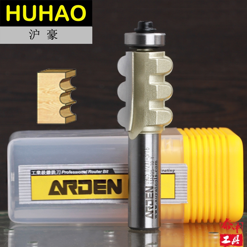 Woodworking Triple Half Round Cutter Bits Arden Router Bit - 1/2*7/8 - 22.2 mm  Shank - Arden A0905158 2 flutes straight carving cutter router bits metric cleaning bottom arden router bit 1 2 1 2 30mm shank arden a0118018